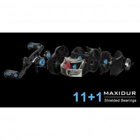 KastKing Stealth Super Light Carbon Body Reel Pancing 11+1 Ball Bearing - Tangan Kanan - Black - 6
