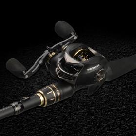 KastKing BlackHawk II Joran Pancing Carbon Fiber Casting Rod 2.03M - Black - 4