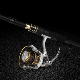 KastKing BlackHawk II Joran Pancing Carbon Fiber Spinning Rod 2.23M - Black - 4