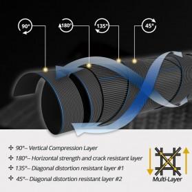 KastKing BlackHawk II Joran Pancing Carbon Fiber Spinning Rod 2.23M - Black - 6