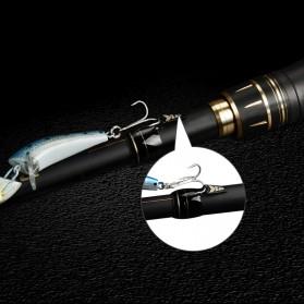 KastKing BlackHawk II Joran Pancing Carbon Fiber Spinning Rod 2.23M - Black - 10