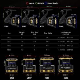 KastKing Lancelot 3000 Series Reel Pancing  8KG Max Drag Fishing Reel 5.0:1 Gear Ratio - Black - 5