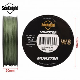 Seaknight Monster W8 Senar Tali Pancing 8 Strands 0.4mm 500 Meter - Line 6 - Green - 3