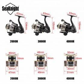 Seaknight Treant II Reel Pancing 3000H 6.2:1 11 Ball Bearing - R0925 - Black - 5