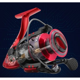 Seaknight PUCK2000 Spinning Reel Pancing 5.2:1 10 Ball Bearing - Red - 6