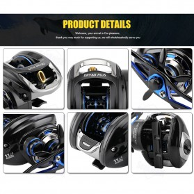 Seaknight DRYAD Plus Baitcasting Reel Pancing 7.0:1 12 Ball Bearing - Left - Black - 11