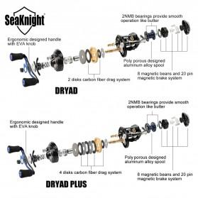 Seaknight DRYAD Plus Baitcasting Reel Pancing 7.0:1 12 Ball Bearing - Right - Black - 5