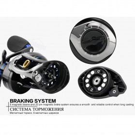 Seaknight DRYAD Plus Baitcasting Reel Pancing 7.0:1 12 Ball Bearing - Right - Black - 9