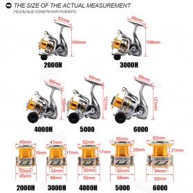 Seaknight Rapid 6000 Spinning Reel Pancing 4.7:1 11 Ball Bearing - R0819 - Silver - 2