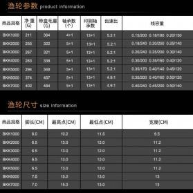 Beast King Reel Pancing BKK5000 13+1 Ball Bearing - Black - 3