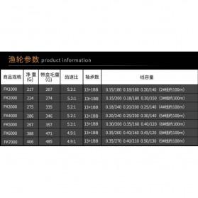 Debao Reel Pancing FK3000 13+1 Ball Bearing - Black - 9