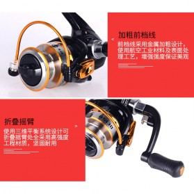 Debao DE150 Spinning Reel Pancing 5.2:1 10 Ball Bearing - Black - 5