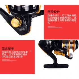 Debao DE150 Spinning Reel Pancing 5.2:1 10 Ball Bearing - Black - 6
