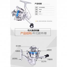 FANSHUN Spinning Reel Pancing 5.2:1 10 Ball Bearing - FM150 - Silver - 9