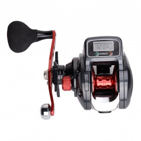 Debao STACO SHA300 Spinning Reel Pancing LCD Display 6.3:1 16+1 Ball Bearing Left Handed - Black