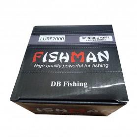Debaone Fishman LURE 2000 Spinning Reel Pancing 5.2:1 12+1 Ball Bearing - Black - 11