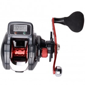 Debao STACO SHA300 Spinning Reel Pancing LCD Display 6.3:1 16+1 Ball Bearing Right Handed - Black