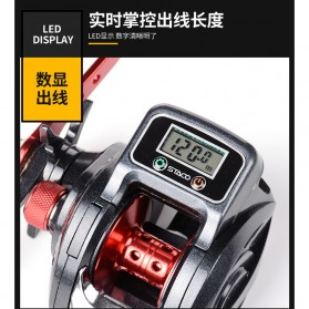Debao STACO SHA300 Spinning Reel Pancing LCD Display 6.3:1 16+1 Ball Bearing Right Handed - Black - 7