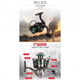 Debaone GA6000 Spinning Reel Pancing 4.9:1 12+1 Ball Bearing - Green - 7