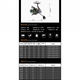 Debaone GA6000 Spinning Reel Pancing 4.9:1 12+1 Ball Bearing - Green - 10