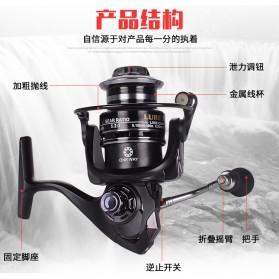 Debao Fishman LURE 4000 Spinning Reel Pancing 5.2:1 12+1 Ball Bearing - Black - 7