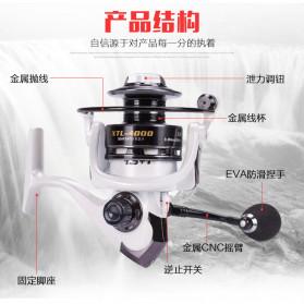 Debao Fishman XTL4000 Spinning Reel Pancing 5.2:1 13+1 Ball Bearing - White - 5