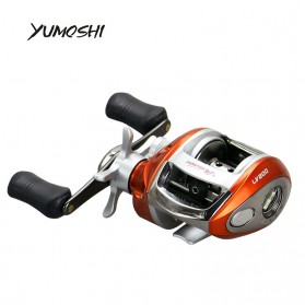 YUMOSHI LV200 Reel Pancing 12+1 Ball Bearing - Tangan Kanan - Orange