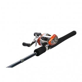 YUMOSHI LV200 Reel Pancing 12+1 Ball Bearing - Tangan Kiri - Orange - 4