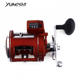 YUMOSHI AC600 30D Reel Pancing 12 Ball Bearing with Electric Depth Counting - Red - 1
