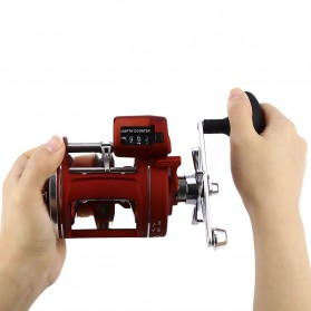 YUMOSHI AC600 30D Reel Pancing 12 Ball Bearing with Electric Depth Counting - Red - 5