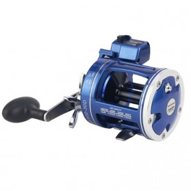 Olahraga & Outdoor - YUMOSHI AC600 30D Reel Pancing 12 Ball Bearing with Electric Depth Counting - Blue
