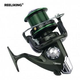 YUMOSHI REELSKING TD8000 Reel Pancing Spinning 12+1 Ball Bearing - Black/Green