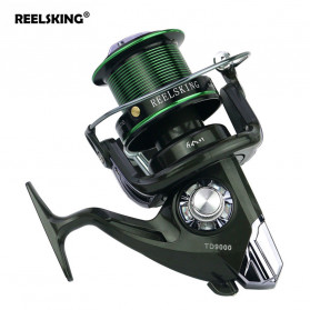 YUMOSHI REELSKING TD9000 Reel Pancing Spinning 12+1 Ball Bearing - Black/Green