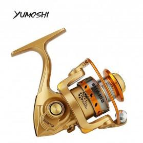YUMOSHI BMW150 Mini Fishing Reel Gulungan Pancing 13+1 BB 5.2:1 Gear Ratio - Golden