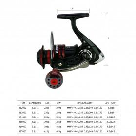 YUMOSHI RS3000 Reel Pancing Spinning 12 Ball Bearing 5.2:1 - Black - 10