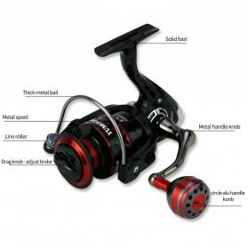 YUMOSHI RS3000 Reel Pancing Spinning 12 Ball Bearing 5.2:1 - Black - 7