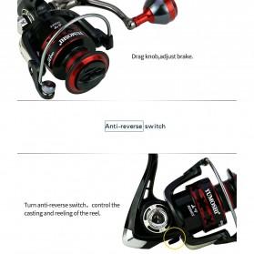 YUMOSHI RS3000 Reel Pancing Spinning 12 Ball Bearing 5.2:1 - Black - 9