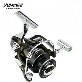 YUMOSHI BY1000 Reel Pancing Spinning 12+1 Ball Bearing 5.5:1 - Black - 2