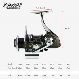 YUMOSHI BY1000 Reel Pancing Spinning 12+1 Ball Bearing 5.5:1 - Black - 3
