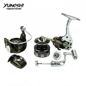 YUMOSHI BY1000 Reel Pancing Spinning 12+1 Ball Bearing 5.5:1 - Black - 4