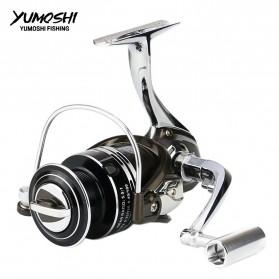 YUMOSHI BY1000 Reel Pancing Spinning 12+1 Ball Bearing 5.5:1 - Black - 5
