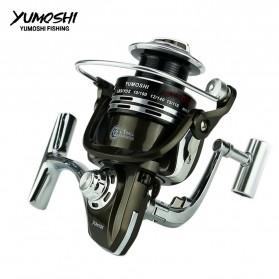 YUMOSHI BY1000 Reel Pancing Spinning 12+1 Ball Bearing 5.5:1 - Black - 6