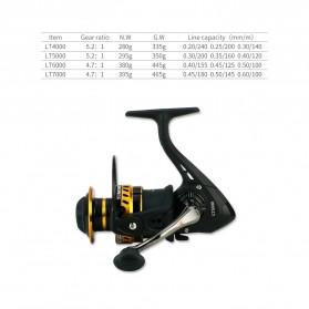 YUMOSHI LT3000 Reel Pancing Spinning 12 Ball Bearing 5.2:1 - Black - 10