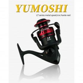 YUMOSHI LT2000 Reel Pancing Spinning 12 Ball Bearing 5.2:1 - Black - 5