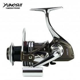 YUMOSHI BY2000 Reel Pancing Spinning 12+1 Ball Bearing 5.5:1 - Black