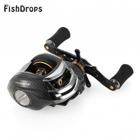 Fishdrops LB200 Reel Pancing 18 Ball Bearing - Tangan Kiri - Gray