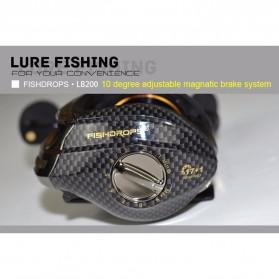 Fishdrops LB200 Reel Pancing 18 Ball Bearing - Tangan Kiri - Gray - 8