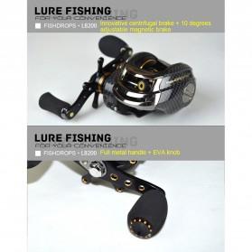 Fishdrops LB200 Reel Pancing 18 Ball Bearing - Tangan Kanan - Gray - 7