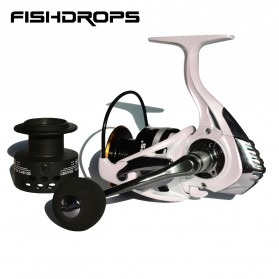 Fishdrops HB3000 Reel Pancing 13 Ball Bearing - White