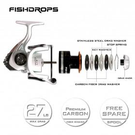 Fishdrops HB3000 Reel Pancing 13 Ball Bearing - White - 3